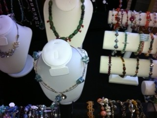 necklace displays at jewelry show