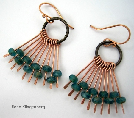 Waterfall Earrings Tutorial by Rena Klingenberg
