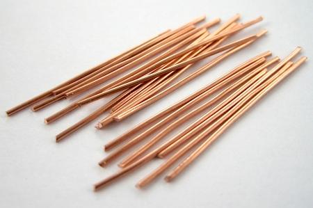 Copper wire sticks for Waterfall Earrings Tutorial by Rena Klingenberg