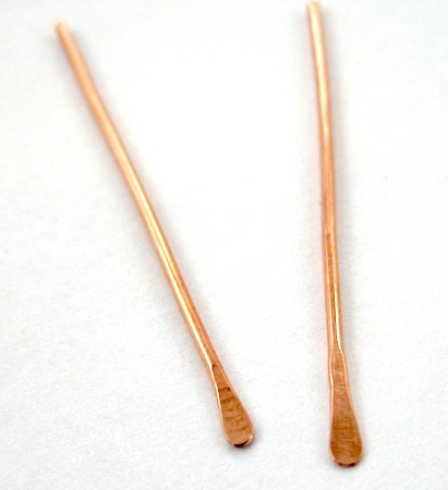 Making paddle headpins for Waterfall Earrings Tutorial by Rena Klingenberg