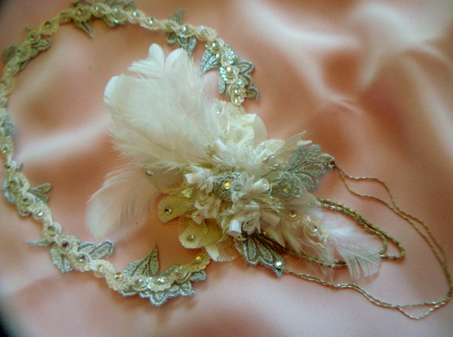 Homage to a 1920's Wedding: Bridal Hair Jewelry