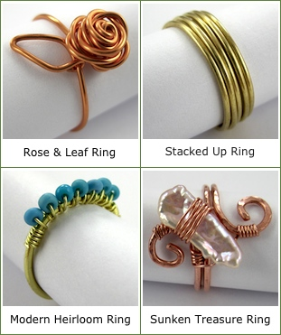 Four Adjustable Wire Rings Video Class by Rena Klingenberg