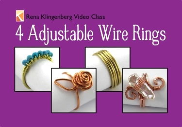 4 Adjustable Wire Rings Video Class by Rena Klingenberg