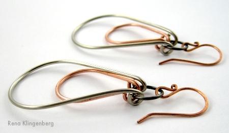 Industrial Double Hoop Earring Tutorial by Rena Klingenberg
