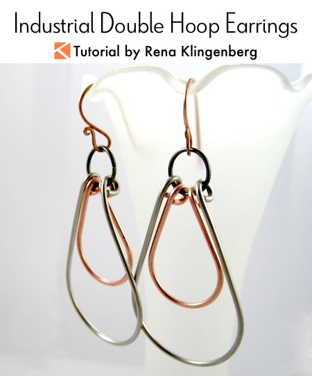 Industrial Double Hoop Earrings Tutorial by Rena Klingenberg