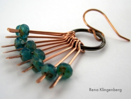 Waterfall Earrings Tutorial by Rena Klingenberg