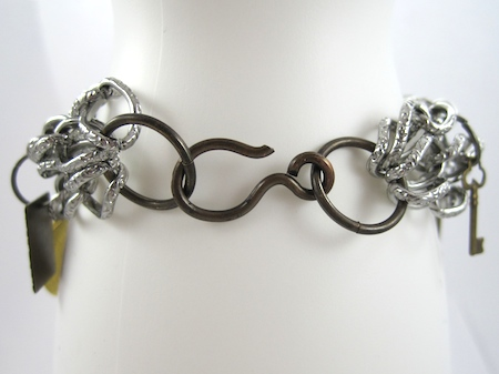 Clasp - Chains and Charms Bracelet Tutorial by Rena Klingenberg