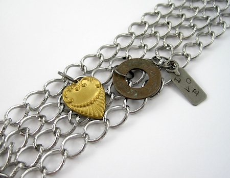 Adding charms - Chains and Charms Bracelet Tutorial by Rena Klingenberg