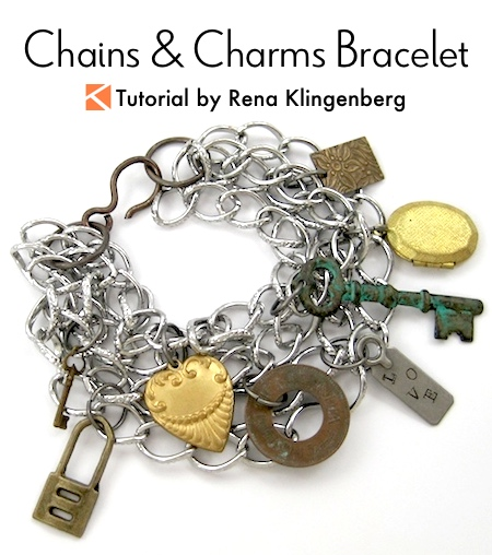 Chains and Charms Bracelet Tutorial by Rena Klingenberg