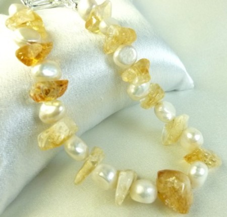 DSchamp: Sun & Sand: Sunny Yellow Citrine and Pearls 1