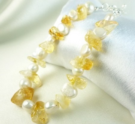 DSchamp: Sun & Sand: Sunny Yellow Citrine and Pearls 2