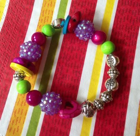 multi-colored stretchy bangle