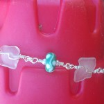 Sea foam lampwork beads with seaglass bracelet