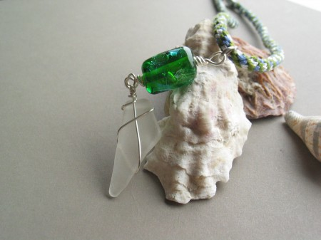 Seaglass and lampwork jewelry