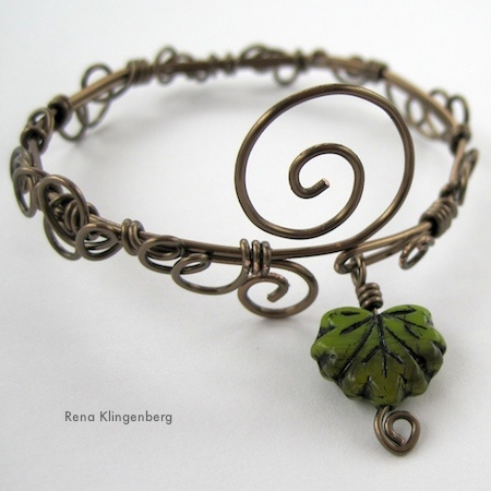 Leaf & Vine Filigree Wire Bracelet (Tutorial)