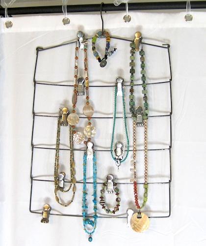 Jewelry on pants hanger