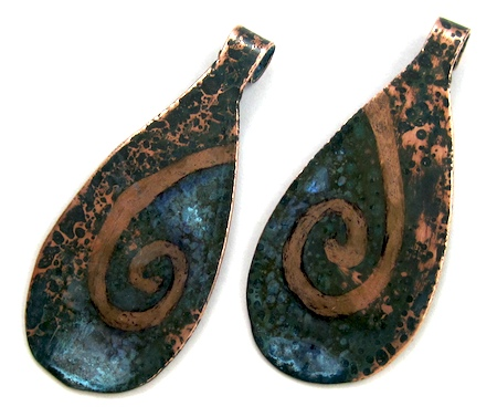 Patina Resist with Ammonia and Sharpie Pen - Tutorial by Rena Klingenberg