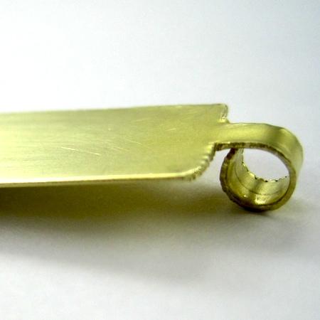 Making brass earring blanks