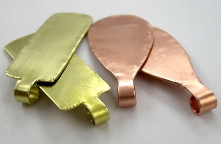 Making brass and copper earring blanks