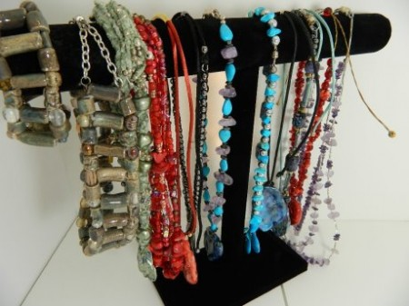 Collection of gemstone necklaces