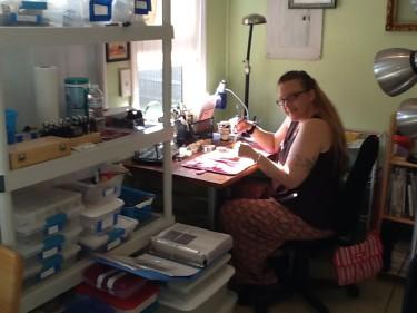 Diane Ballou in her studio