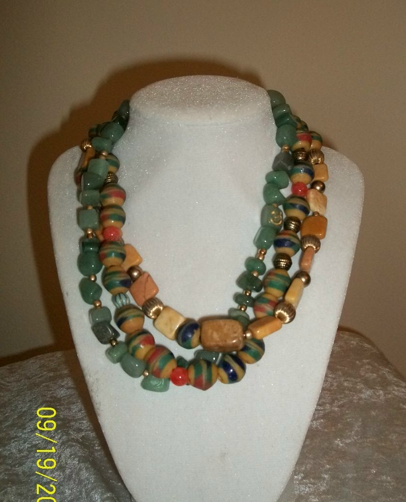 Multiple Strand Necklace Display