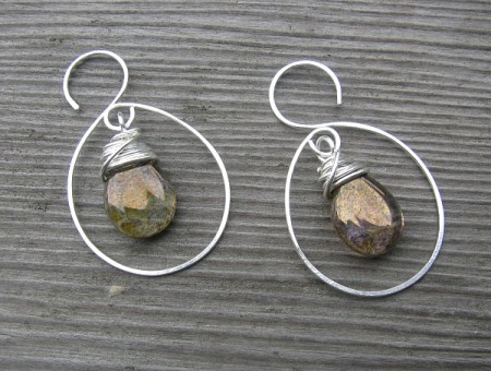 Wrapped Glass Briolette Earrings