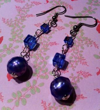 Crystal Cubes Dangle Earrings
