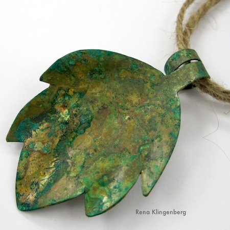 Potato Chip Patina on Brass and Copper - Tutorial by Rena Klingenberg