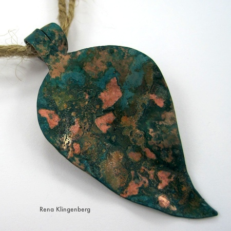 Rustic Autumn Leaf Pendants Tutorial by Rena Klingenberg - shown here in copper