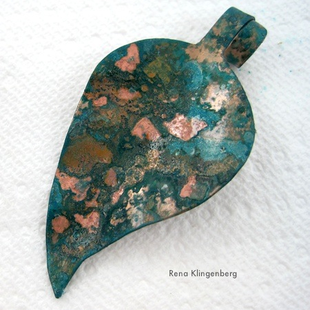 Potato Chip Patina on Copper - Tutorial by Rena Klingenberg