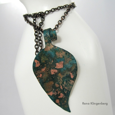 Rustic Autumn Leaf with Potato Chip Patina - Tutorial by Rena Klingenberg