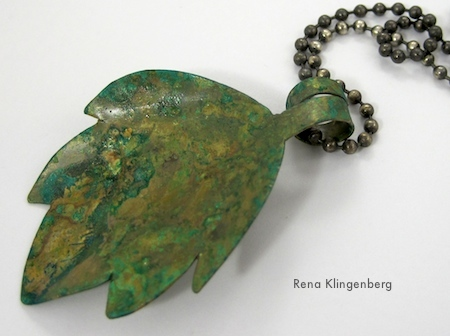 Potato Chip Patina on Brass - Tutorial by Rena Klingenberg