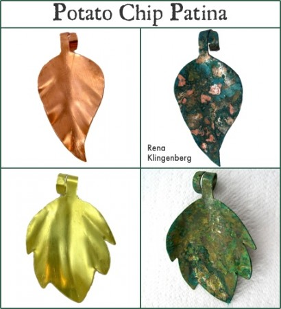 Potato Chip Patina Tutorial by Rena Klingenberg