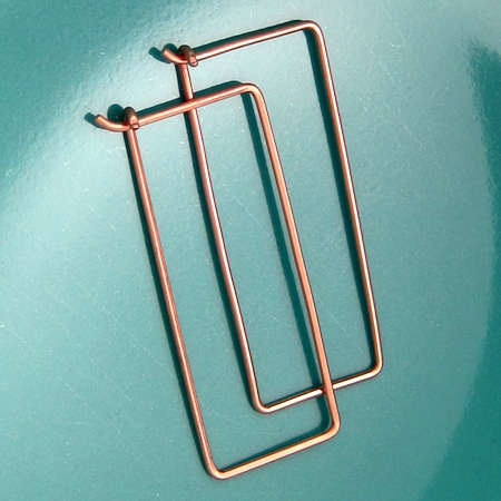 Rectangle Hoop Earrings Tutorial by Rena Klingenberg