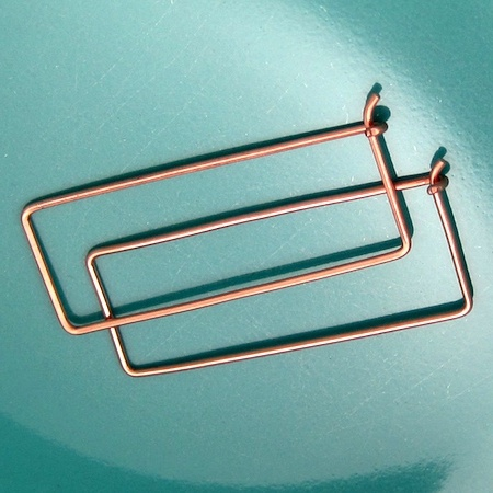 Rectangle Hoop Earrings (Tutorial)