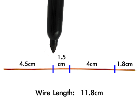 Marking wire for Rectangle Hoop Earrings Tutorial by Rena Klingenberg