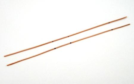 Wires marked for Rectangle Hoop Earrings Tutorial by Rena Klingenberg