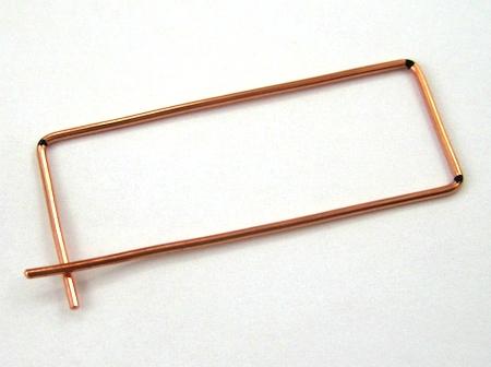 Rectangle Hoop Earrings Tutorial by Rena Klingenberg