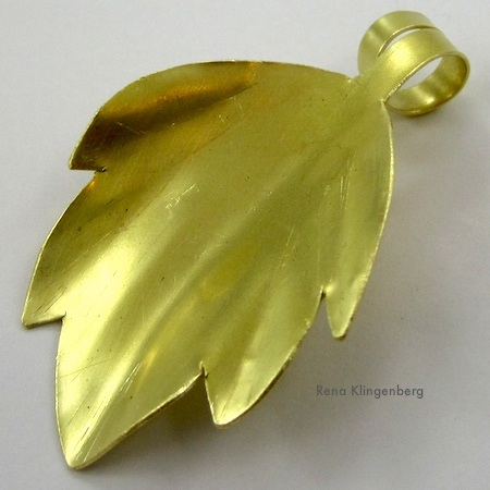 Brass Leaf Pendant Tutorial by Rena Klingenberg