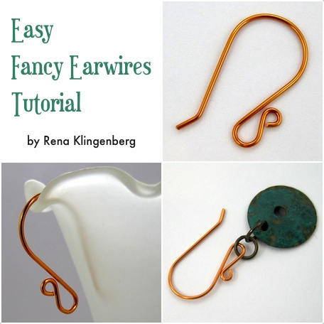 Easy Fancy Earwires Tutorial by Rena Klingenberg