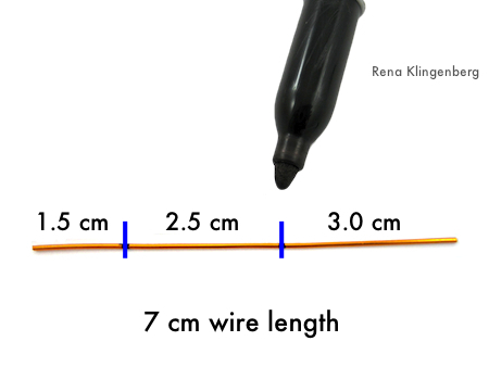 Measuring wire for Fancy Earwires Tutorial by Rena Klingenberg