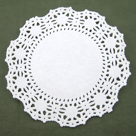 Paper Lace Doily (Lacy Jewelry Tutorial by Rena Klingenberg)