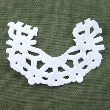 Paper Lace Cut-Out for Lacy Jewelry Tutorial by Rena Klingenberg
