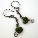 Leaf & Vine Wire Earrings (Tutorial)