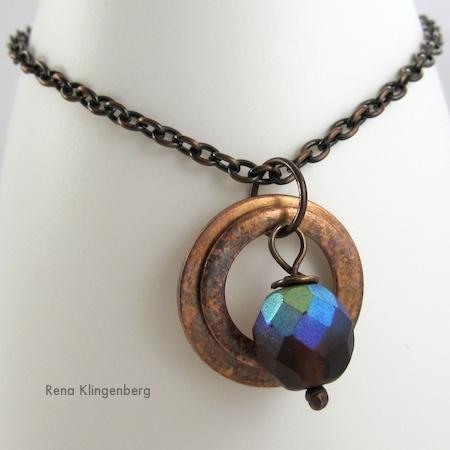 Variaciones del collar de arandelas de cobre rústico (Tutorial)