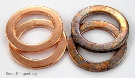 Pátina de cobre rústica - antes e depois