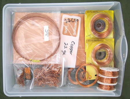 Storing copper wire and sheet metal - Rena Klingenberg