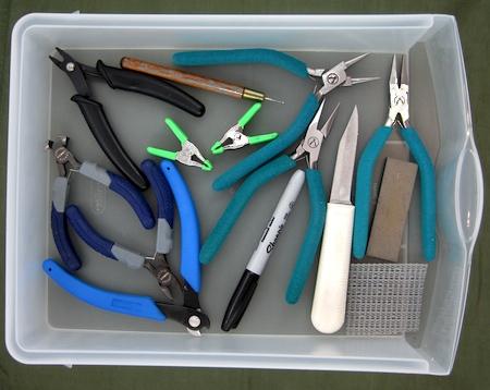 Storing jewelry tools - Rena Klingenberg