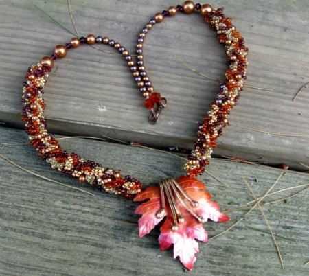 First Fallen Leaf Necklace - Dianne Jacques